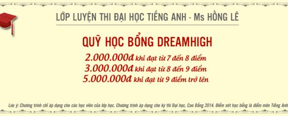 Chương trình học bổng lớp học tiếng Anh Ms Hồng Lê 2014