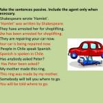 Câu bị động – tổng hợp bài tập về câu bị động